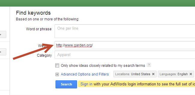 google-keyword-tool-results