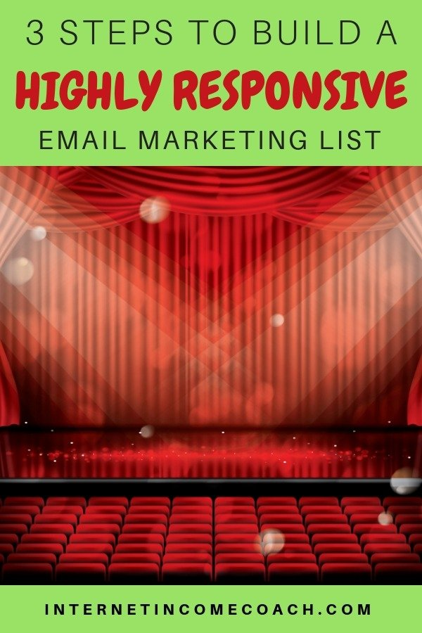 3 steps to building a highly responsive email marketing list. #emailmarketing