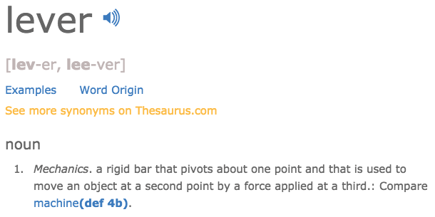 lever definition