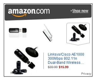 Amazon.com retargeting ad